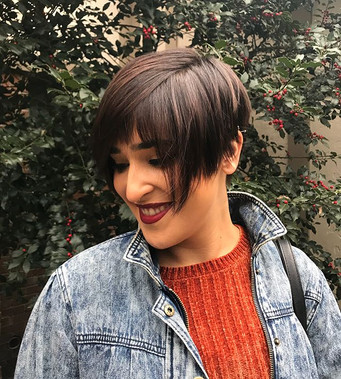 Obsessing over these pictures and this haircut ! #haircut #shorthair #pixie #nothingbutpixies #hair #darkhair #behindthechair #modernsalon #