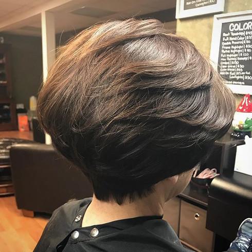 #shorthair #stackedhair #hair #haircut #bob #bobhaircut