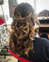 #bridesmaid #bridesmaidhair #hair #updo #formalhair #wedding #weddinghair #curls #braids