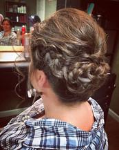 #updo #braids #formalhair #weddinghair #wedding #hair #messyhair #bridesmaidhair