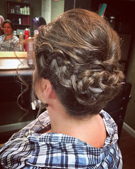 #updo #braids #formalhair #weddinghair #wedding #hair #messyhair #bridesmaidhair