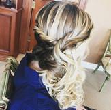#bridesmaid #bridalhair #bridesmaidhair #wedding #weddinghair #hair #updo #formalhair #curls #braid