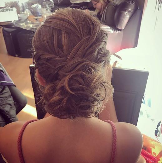 #updo #formalhair #wedding #weddinghair #twists #curls #hair #hairdresser #bridesmaid #bridesmaidhair #bridalhair