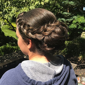 #braids #bun #hair #updo #bridalhair #bridesmaid #prom #sweetsixteen #wedding #formalhair •makeup by _marieangelove