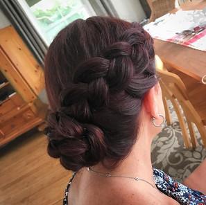 Some block island hair on this lovely lady ♥️ #hair #blockisland #updo #formalhair #braid