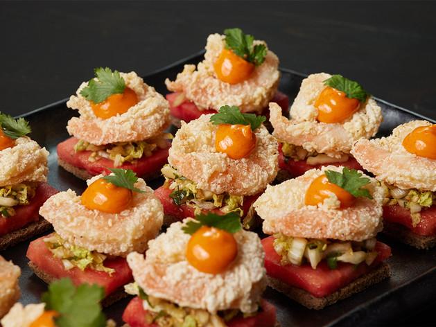 Crispy Shrimp with Watermelon