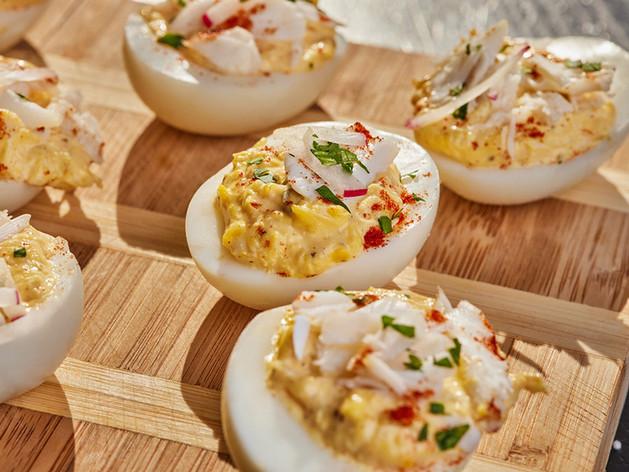Lump Crab Stuffed Deviled Eggs