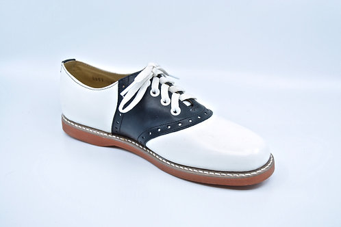 Youth Kesco Blk/Wht Saddle Oxford