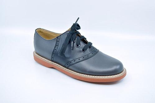 Ladies Kesco Grey/Blk Leather Saddle Oxford