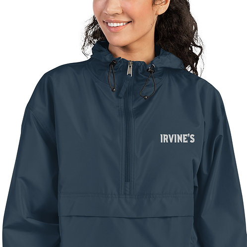 IRVINE'S Embroidered Champion Packable Jacket