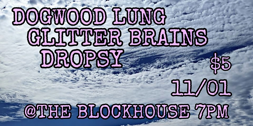 ALL LOCALS SHOW: Dropsy, Glitter Brains, Dogwood Lung