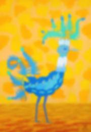 L'oiseau feuille bleu B 72 G - copie 2.j