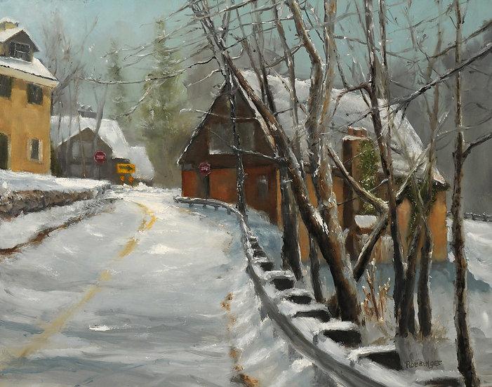 Snowfall on Phillips Mill