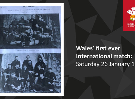 Wales' first ever International match takes place in Rhyl:  Saturday 26 January 1895