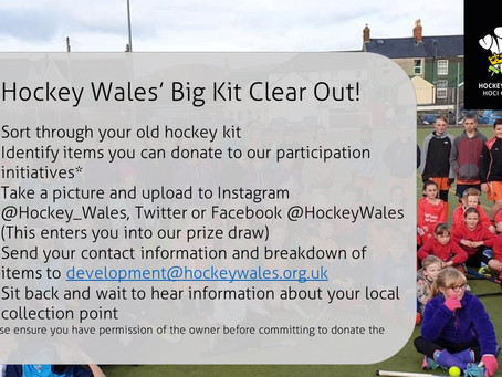 Hockey Wales' Big Kit Clear Out