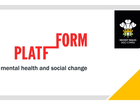 Hockey Wales' Commitment to Mental Health with Partners Platfform