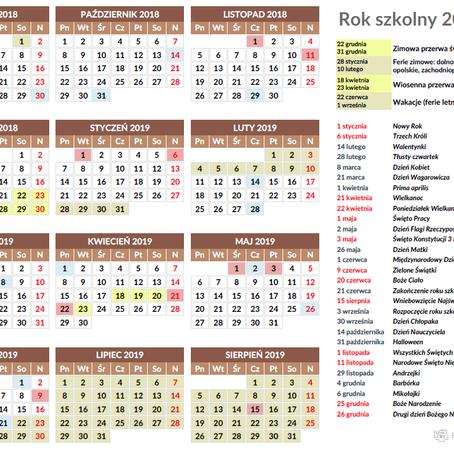 План шкільного року 2018/2019 в Польщі