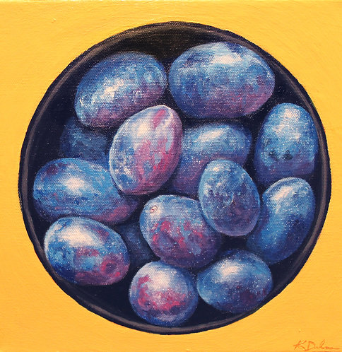 Bowl of Blue Plums