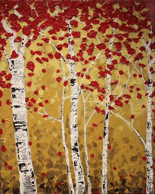 Crimson Frost Birches