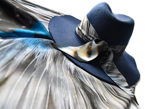 Triumphant Plumage Silk Twilly