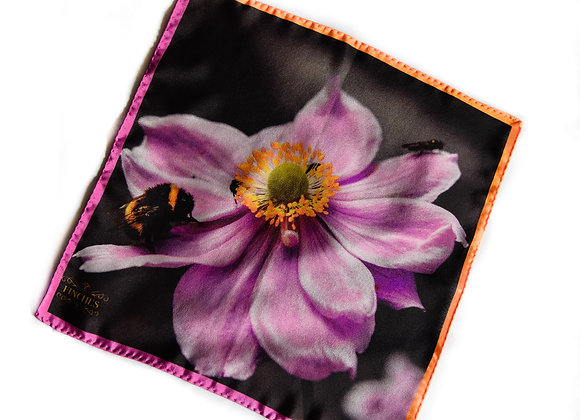 Blush Bee Silk Pocket Square