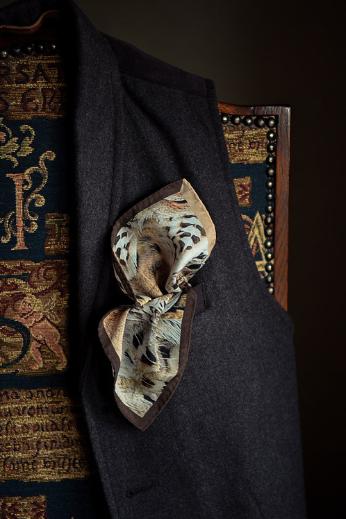 Our feathered friend Silk Pocket Square