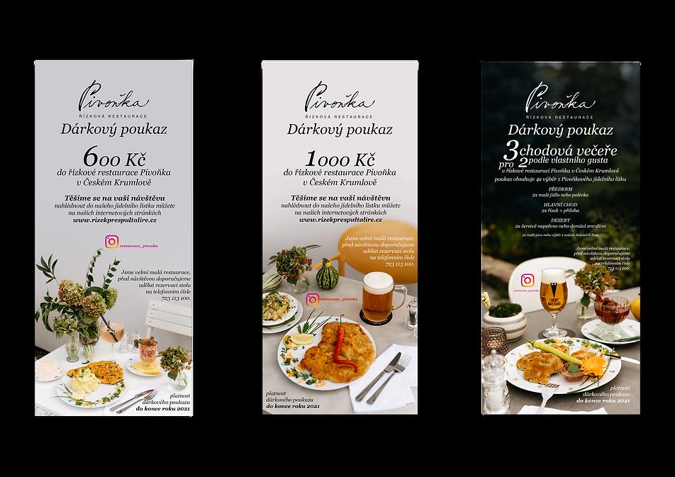 dárkové poukazy restaurace pivonka cesky krumlov 2021