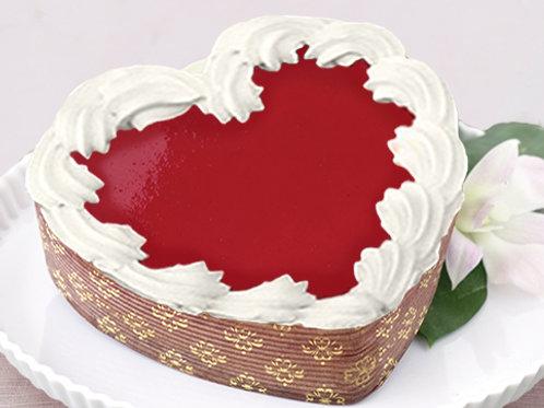 White Chocolate Raspberry heart shaped cheesecake