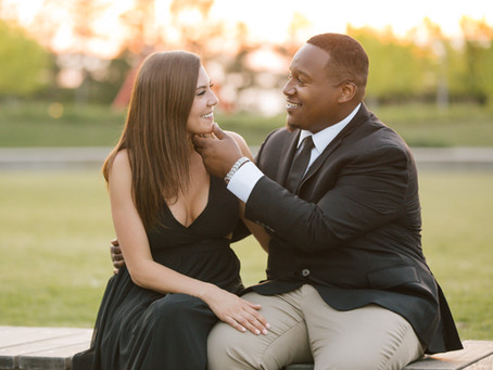 A Charming Garden Engagement Session