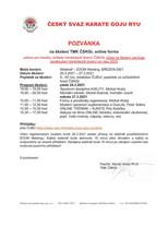 Pozvánka na online školení TMK ČSKGr