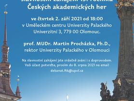 Pozvánka na České akademické hry 2021