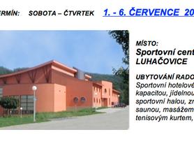 Pozvánka na soustředění v Luhačovicích