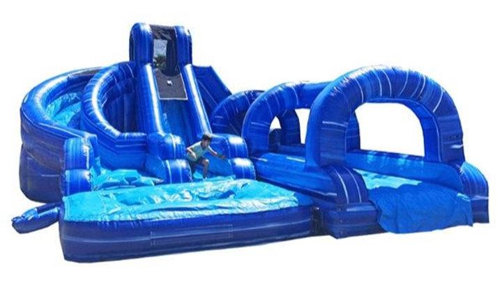 Dual Water Slide with Slip & Slide