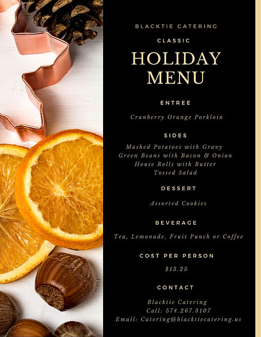 Blacktie Catering Classic Holiday Menu.j