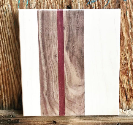 Maple, Walnut & Exotic Purple Heart Cutting Board