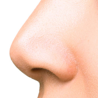 Part of face, woman with the double and