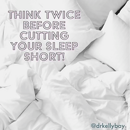 What happens when you cut your sleep short?