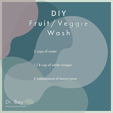 Simple DIY fruit and veggie wash