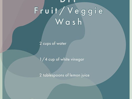 Simple DIY fruit and veggie wash
