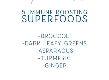 5 Immune Boosting Superfoods
