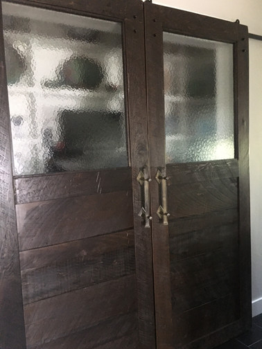 Double Barn Door on Pantry