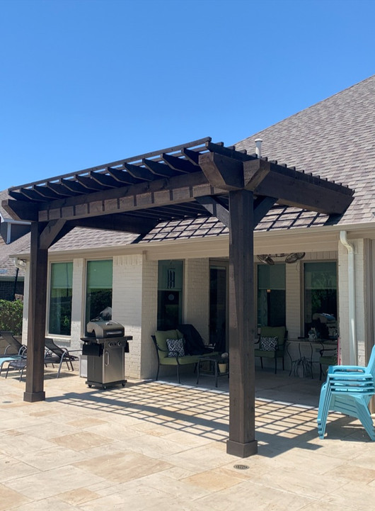 Finished Poolside Pergola