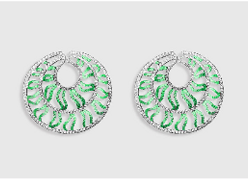 MEDUSA - Emerald earrings