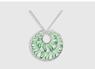 MEDUSA  - Emerald pendant