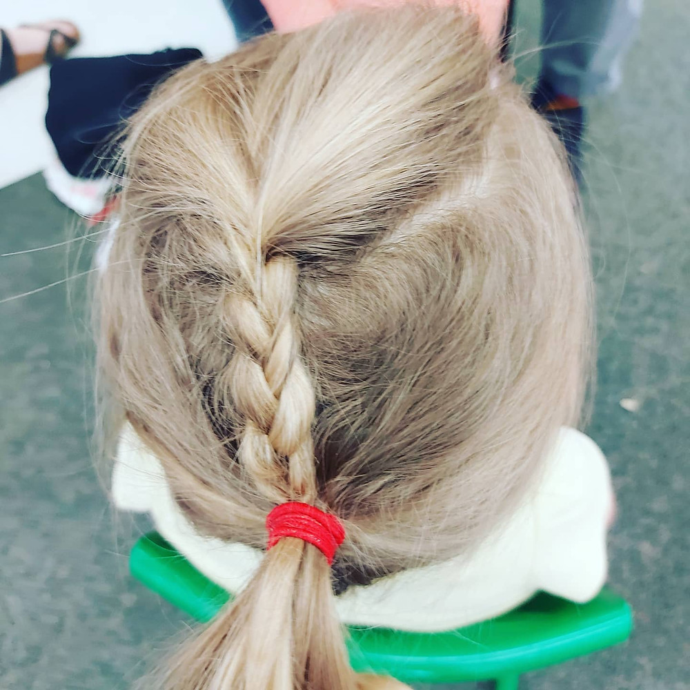 Plait into a pony: good for all day at school.