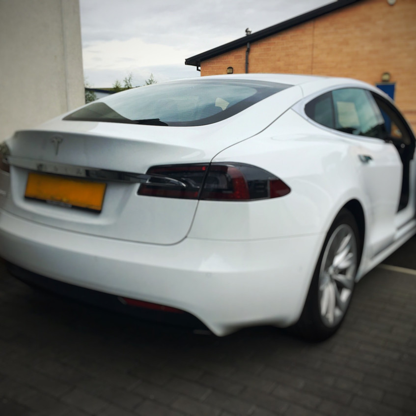 Goluk T1 & T3 Dashcam install into a Tesla Model S in Chesterfield , Derbyshire