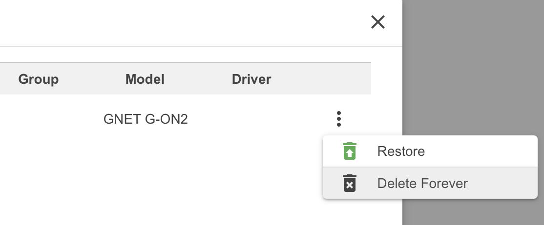 GNET Delete dashcam forever