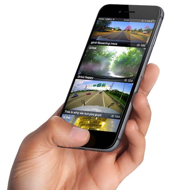Goluk dashcam app