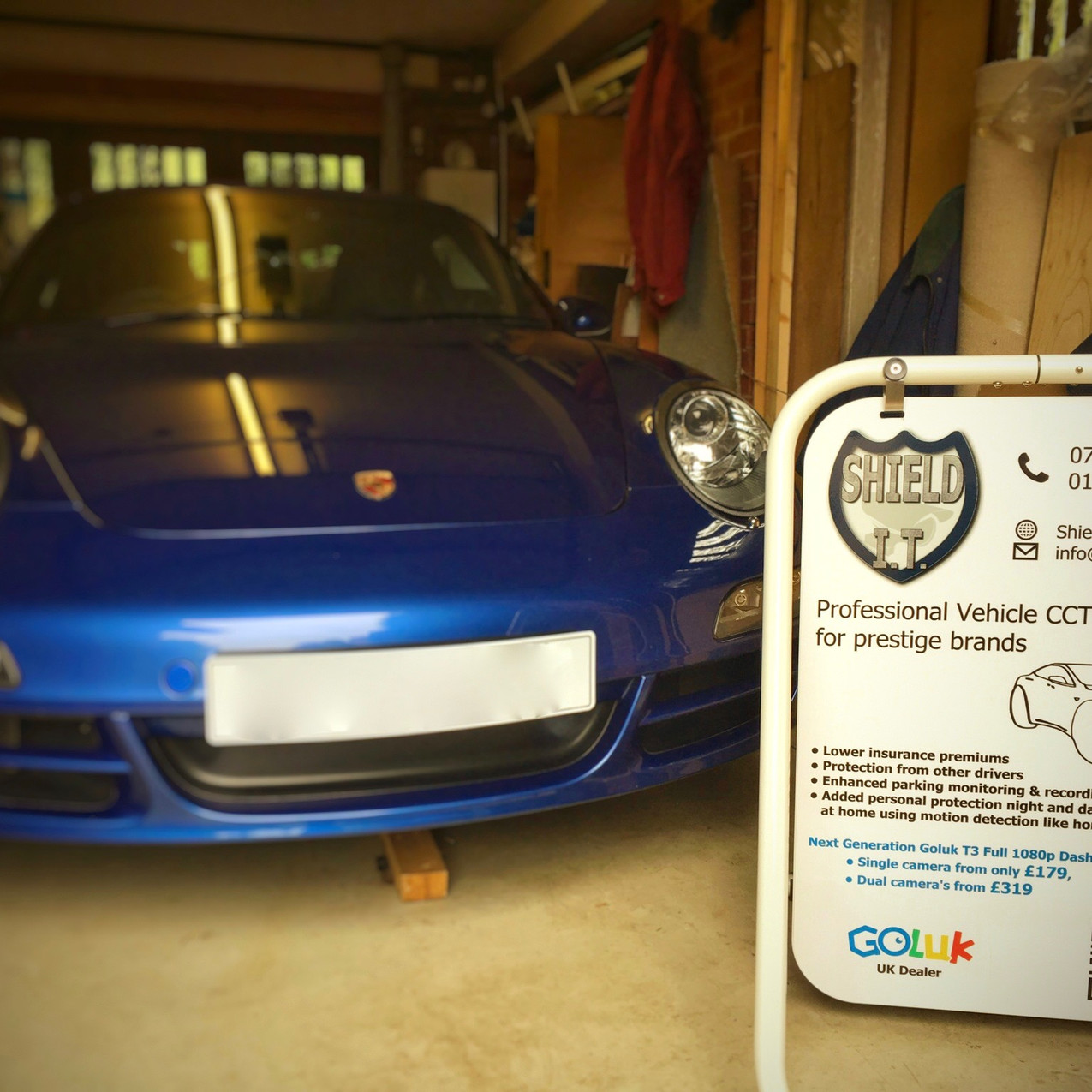 Porsche 997 Carrera Dashcam Installer  Hardwired Maidehead Berkshire  Goluk Dashcam T1