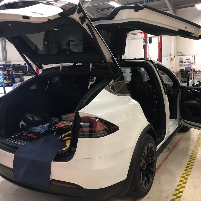 Tesla X 100D Dashcam install Shield IT Crawley